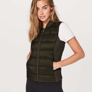 Lululemon Down & Around Vest SZ 4 Black